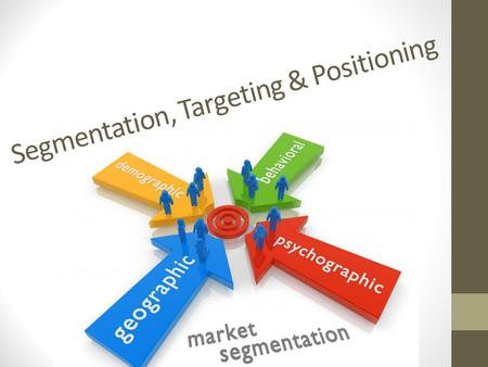 Segmentation, Targeting & Positioning. Why do this?