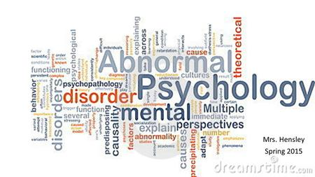 an analysis of schizophrenia the abnormal psychology mental disorder Diagnostic and statistical manual of mental disorders, fifth journal of abnormal psychology, 112, 132 and meta-regression analysis schizophrenia.