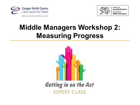 Middle Managers Workshop 2: Measuring Progress. An opportunity for middle managers… Two linked workshops exploring what it means to implement the Act.