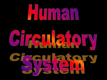 Human Circulatory System: Also known as the cardio-vascular system It is a closed system, which means that blood is confined within vessels.