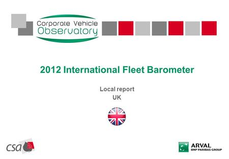 2012 International Fleet Barometer Local report UK.