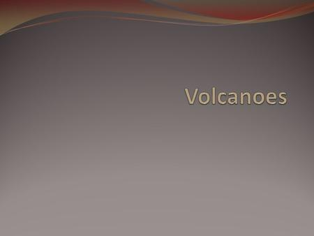 Volcanoes A volcano is a mountain that forms when magma reaches the surface. Magma rises because it is less dense than the solid rock around and above.
