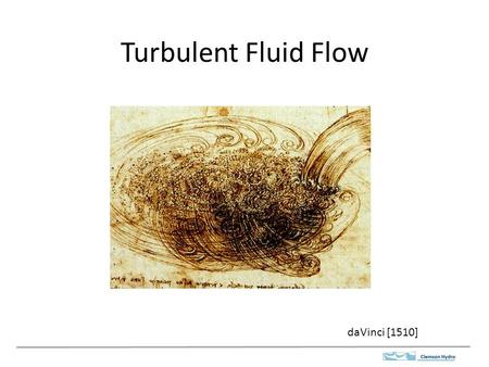 Turbulent Fluid Flow daVinci [1510].