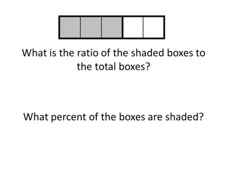 What is the ratio of the shaded boxes to the total boxes?