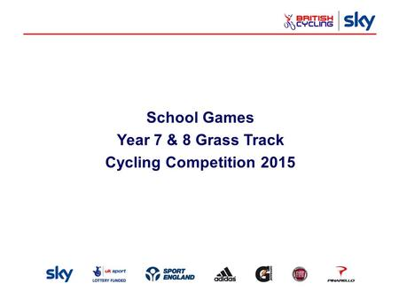 School Games Year 7 & 8 Grass Track Cycling Competition 2015.
