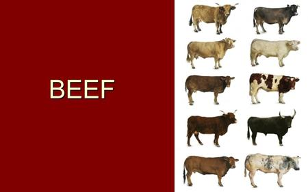 BEEF. Inspection is Mandatory Grading is Voluntary.