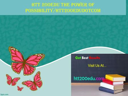 HTT 200EDU The power of possibility/htt200edudotcom.