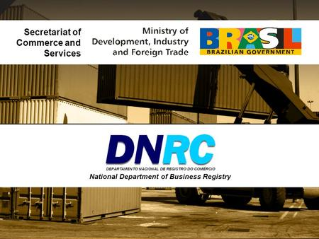 Secretariat of Commerce and Services National Department of Business Registry.