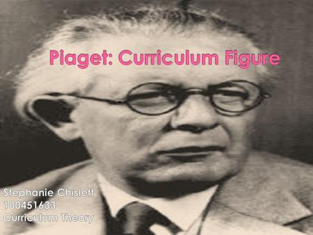  Jean Piaget was born in Switzerland in 1896  He has been labeled as an interactionist as well as a constructivist  His interest in cognitive development.