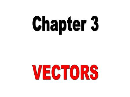 Learning Outcomes By the end of the chapter student should be able: to define vector quantity and scalar quantity and differentiate between them. to add.