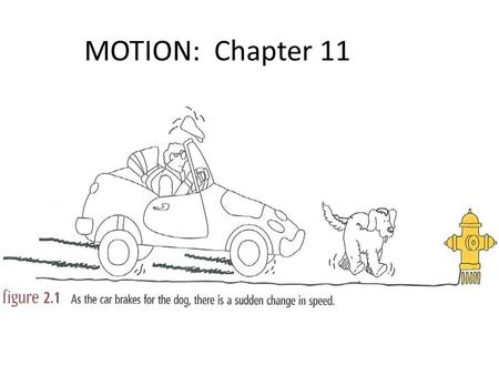 MOTION: Chapter 11. Speed is a scalar quantity Def.  a quantity with a magnitude only (no directional component) Examples: time, speed, temperature,