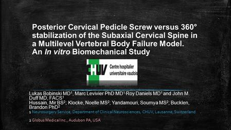Posterior Cervical Pedicle Screw versus 360° stabilization of the Subaxial Cervical Spine in a Multilevel Vertebral Body Failure Model. An In vitro Biomechanical.