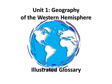 glossary of physical geography terms