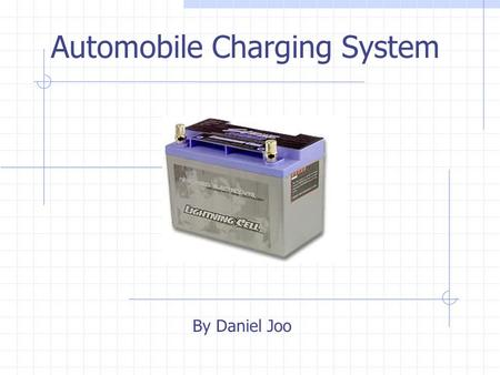 Automobile Charging System By Daniel Joo Functional Diagram Alternator Signal Conditioning Voltage Regulation.