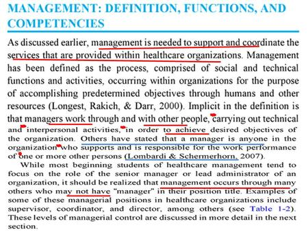 Other management positions COMPETENCIES…