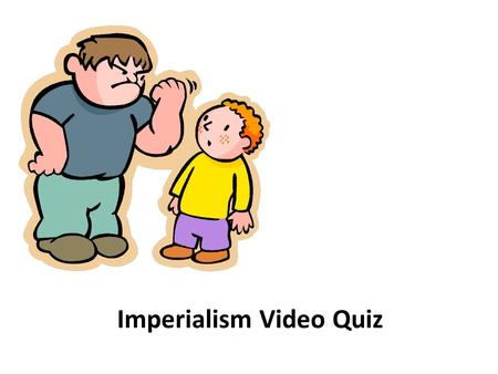 "Imperialism Video Quiz. 1. Factors motivating U.S. expansionism were economic interests, desire for military strength, and belief in the ""White Man's."