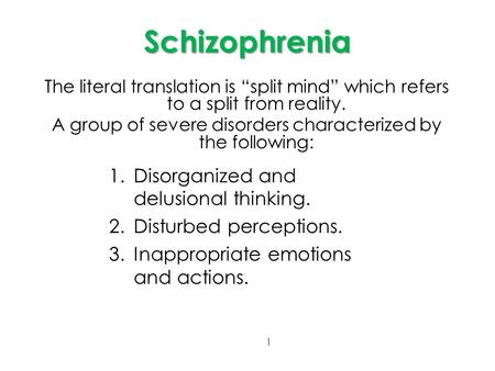 schizophrenia split mind The split mind schizophrenic wtf 🤓 how does the splitting of mind take place, and what does it do to the schizophrenic how.