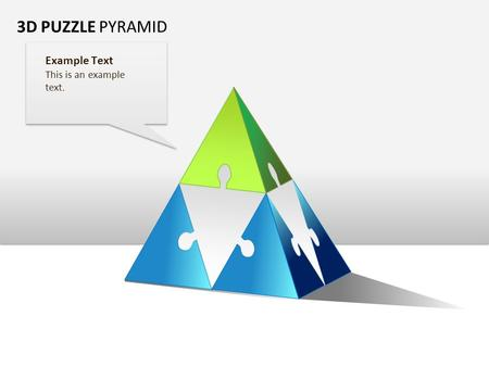3D PUZZLE PYRAMID Example Text This is an example text.