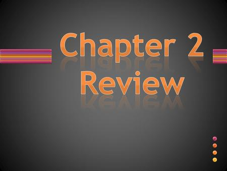 Chapter 2 Review.