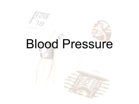 Blood Pressure. Blood pressure is the pressure exerted by circulating blood upon the walls of blood vessels, and is one of the principal vital signs.