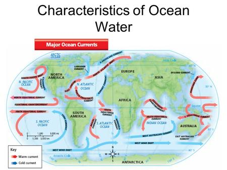 Characteristics of Ocean Water. Beginning On a sheet of paper with your name on it complete the following 7 tasks. Please make sure that your paper has.