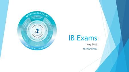 IB Exams May 2016 It's GO time!. Testing Calendar.