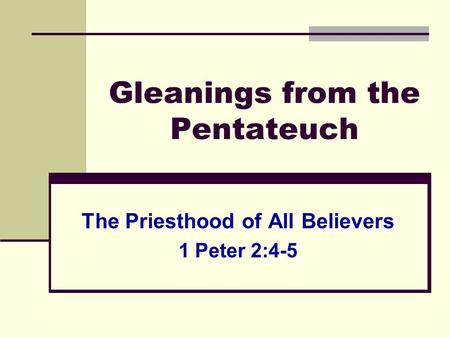 priesthood of all believers pdf