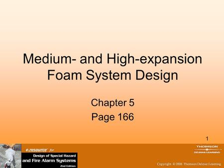 Medium- and High-expansion Foam System Design