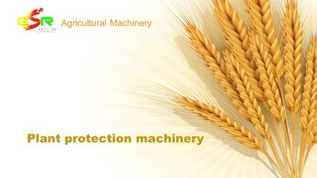 Plant protection machinery Agricultural Machinery.