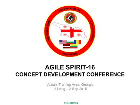 AGILE SPIRIT-16 CONCEPT DEVELOPMENT CONFERENCE
