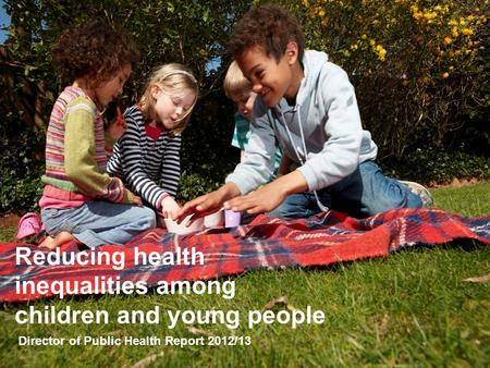 Reducing health inequalities among children and young people Director of Public Health Report 2012/13.