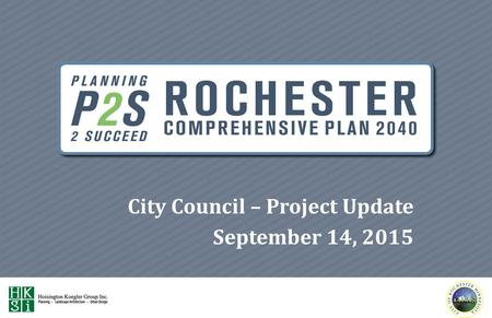 City Council – Project Update September 14, 2015.
