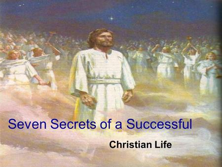 "Seven Secrets of a Successful Christian Life. 1. Leave everything that belongs to Satan Behind Texts: Genesis 31:18 – 35 Verse 32 ""With whomsoever thou."