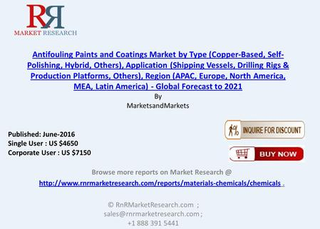 Antifouling Paints & Coatings Market Forecasted to Gain 8.6% CAGR