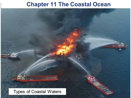 © 2014 Pearson Education, Inc. Chapter 11 The Coastal Ocean Types of Coastal Waters.