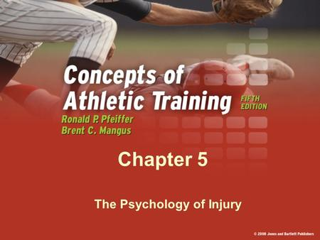 "Chapter 5 The Psychology of Injury. Personality Variables Personality is defined as ""stable, enduring qualities of the individual."" Characteristics that."
