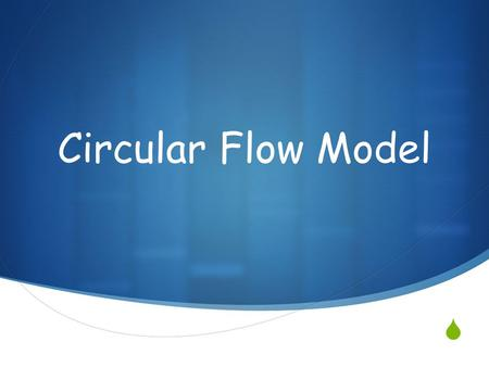  Circular Flow Model. MEANS OF PRODUCTION: used to produce goods & services  FACTORIES  FARMS  SHOPS  MINES  MACHINERY  OFFICE BUILDINGS.