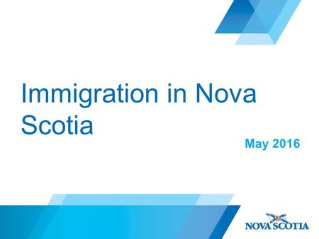 Immigration in Nova Scotia May 2016. Pathways to Immigration Economic Class Federal Skilled Worker Canadian Experience Class Business Immigrant (includes.