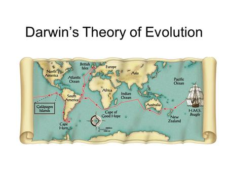 Darwin's Theory of Evolution. Theory vs. Hypothesis Theory: unifying idea which is proven through repetitious experimentation Hypothesis: conjectures.