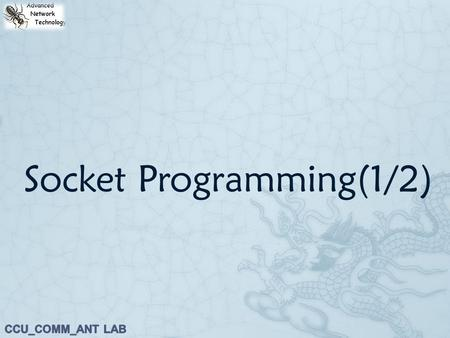 Socket Programming(1/2). Outline  1. Introduction to Network Programming  2. Network Architecture – Client/Server Model  3. TCP Socket Programming.