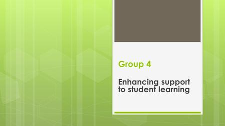 Group 4 Enhancing support to student learning. Rationale  The Old Library of the University of Gondour shall be utilized as a vessel for community engagement.