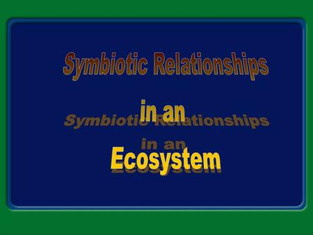 Types of Symbiosis Symbiosis A. The relationship in which there is a close and permanent association between organisms of different species is called.