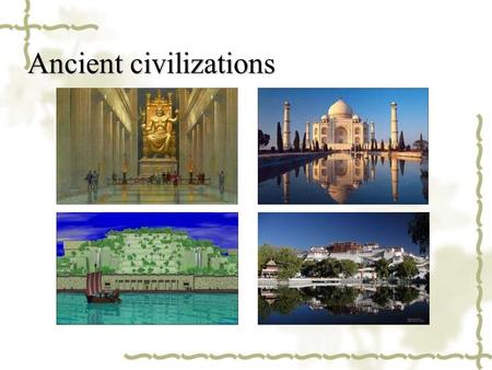 Ancient civilizations. Pompeii (Italy) & Loulan (China)