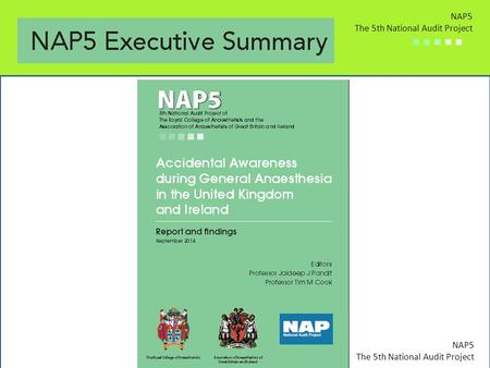 NAP5 The 5th National Audit Project ■ ■ ■ ■ ■ NAP5 The 5th National Audit Project ■ ■ ■ ■ ■