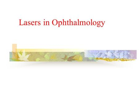 Lasers in Ophthalmology. Anatomy of eye The cornea is a transparent tissue in the front part of the eye. It is a curved spherical structure that is responsible.