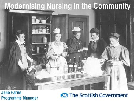 Modernising Nursing in the Community Jane Harris Programme Manager.