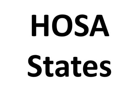 HOSA States. Rules Follow Student Code of Conduct (that you signed) No swimming, water activities No room charges No co-ed room visitation Don't go anywhere.