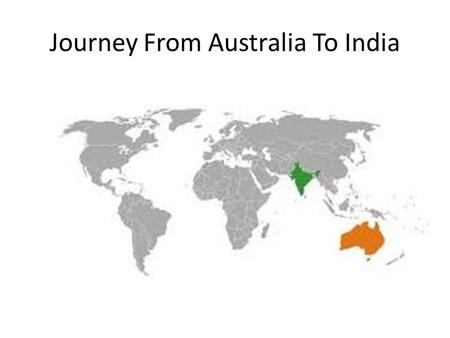 Journey From Australia To India. AUSTRALIA Six States And Two Territories.