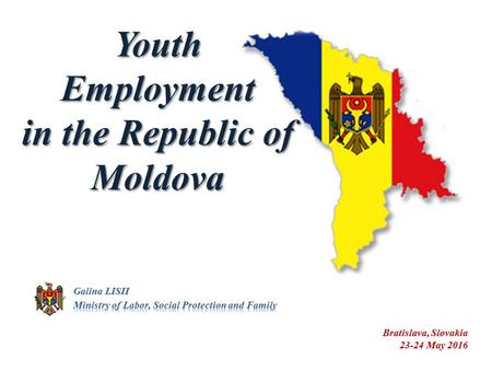 The legal framework Law nr. 102-XV from 13.03.2003 on employment and social protection of the jobseekers Law nr. 279-XIV from 11.02.1999 on youth. National.