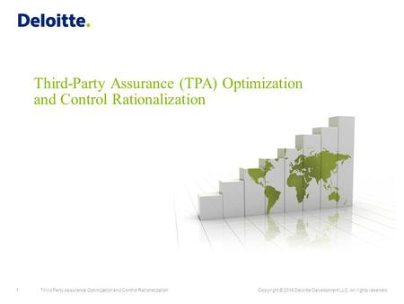 1Third Party Assurance Optimization and Control RationalizationCopyright © 2016 Deloitte Development LLC. All rights reserved. Third-Party Assurance (TPA)